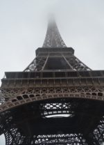 Paris - Low cloud and mist shroud the Eiffel-Tower